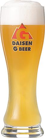 グラスに入った大山Gビールの画像